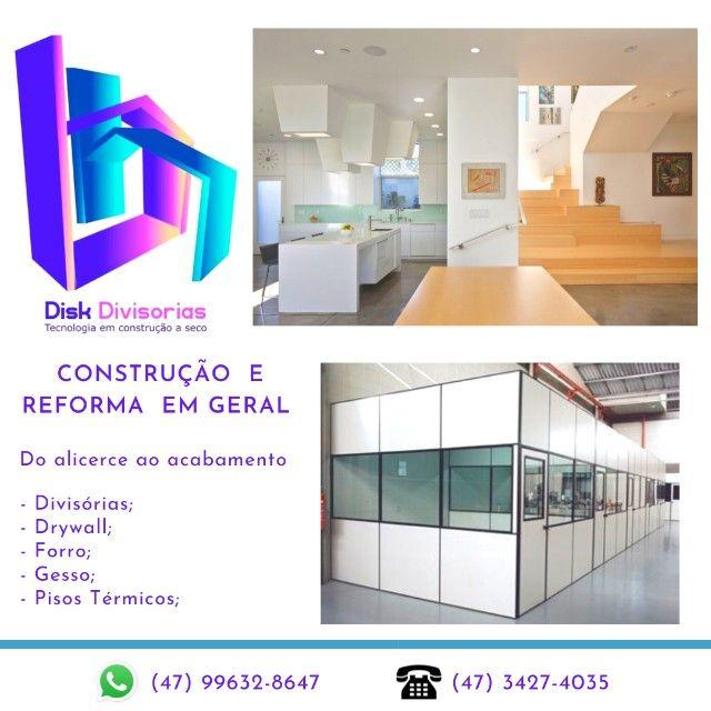 Divisórias novas e usadas, Drywall, Forro, Gesso, Steel e Piso laminado e Vinílico - Foto 4