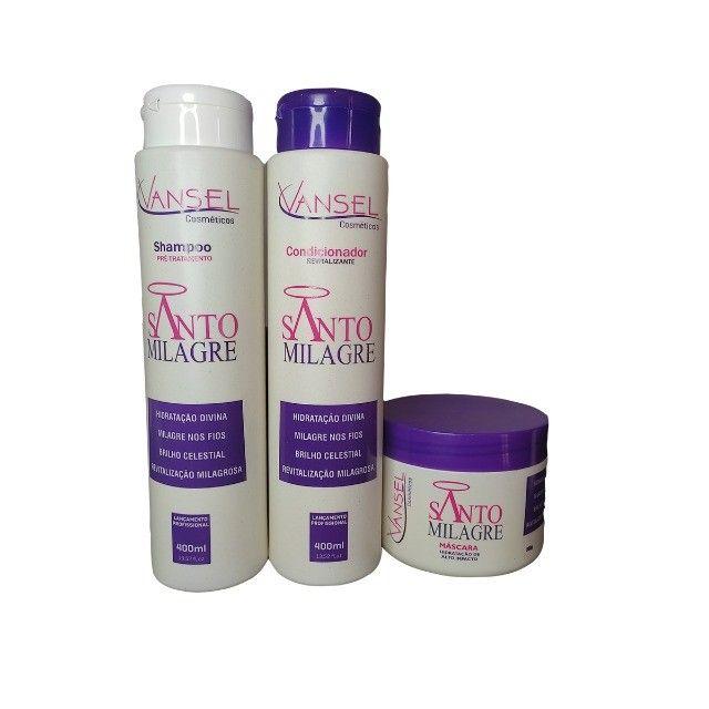 Kit Capilar Santo Milagre Vansel com Shampoo Condicionador e Máscara de Hidratação - Foto 2
