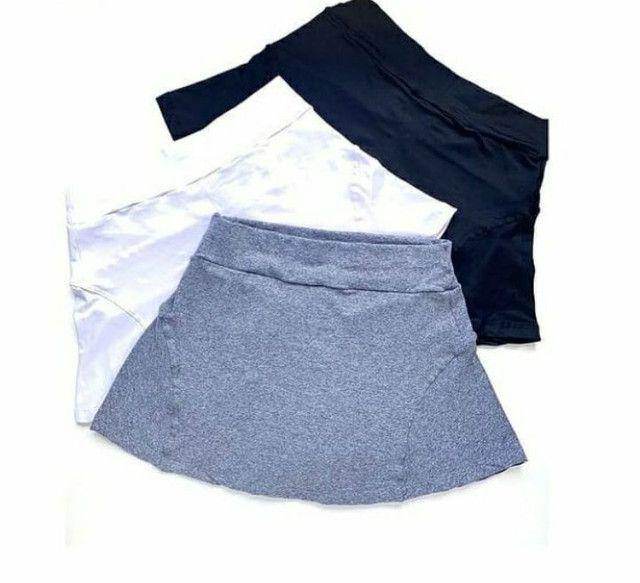 Short saia liso ou estampado