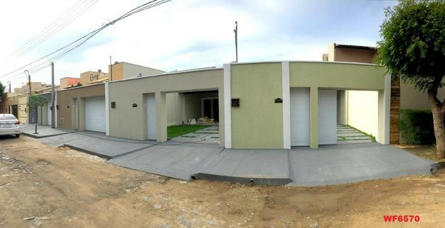 Casa plana na Sapiranga, 3 suítes, 2 vagas, casa nova, Próx Edilson Brasil Soares - Foto 9
