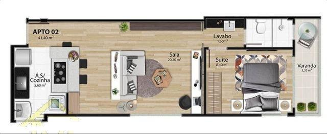 Apartamento à venda com 1 dormitórios em Mata da praia, Vitória cod:8305 - Foto 7
