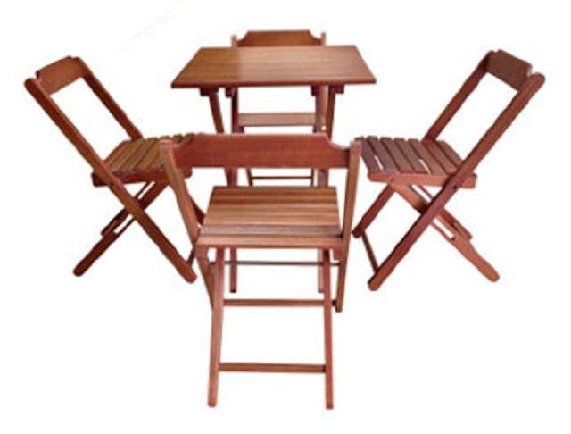 Mesas e Cadeiras Dobráveis Direto da Fábrica - Foto 5