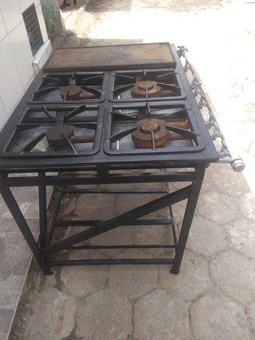 Fogão  industrial de 4 boca 350 reais - Foto 2