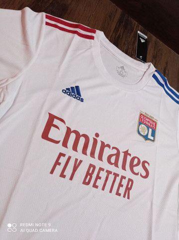 Camisa de time Lyon Adidas tamanho GG - Foto 3