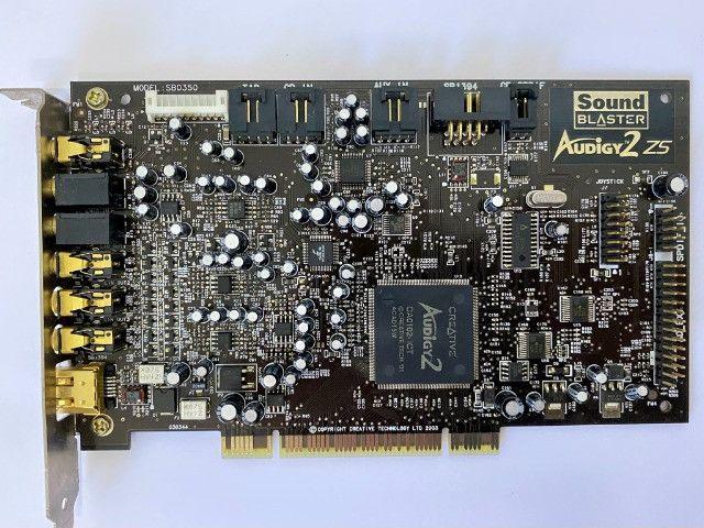 Placa De Som Creative Sound Blaster Audigy2 Zs Sb0350 - Foto 2
