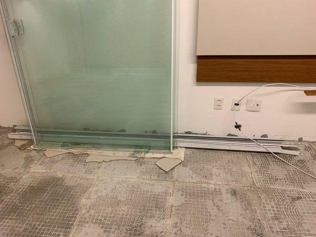 Vendo porta vidro de correr blindex 5,10x2,20 - Foto 4