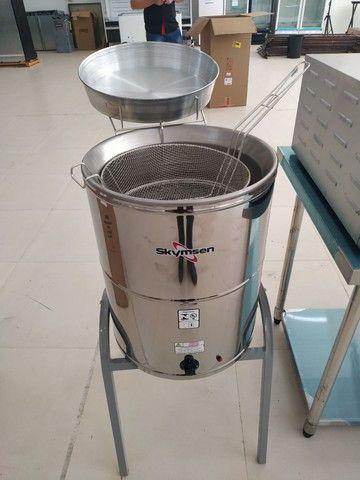 Fritadeira elétrica água e óleo inox JM Equipamentos Paulo Malmegrim