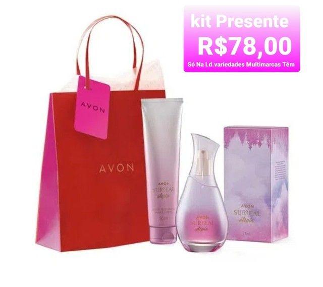 Kits presentes Avon só na Ld.variedades Multimarcas têm