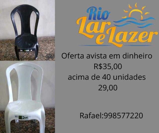 Cadeiras bistro plastico