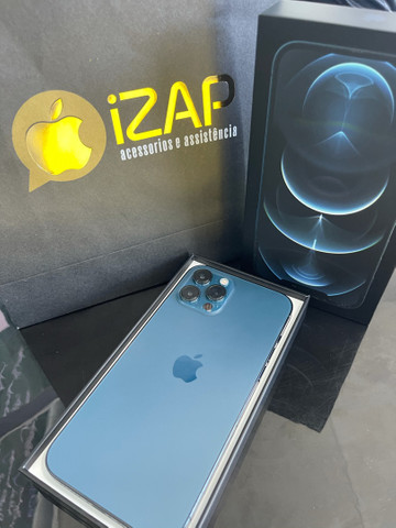 iphone 12 pro max 128 azul ( 1 ano de garantia )