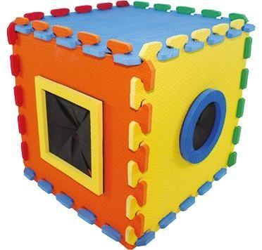 Brinquedo Infantil Cubo Tátil Em E.v.a, Escolar