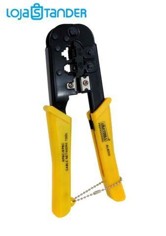 alicate para crimpar rj45 rj25 corta desencapa fios e cabos