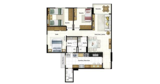 Apartamento à venda com 3 dormitórios em Bairro vermelho, Vila velha cod:3403