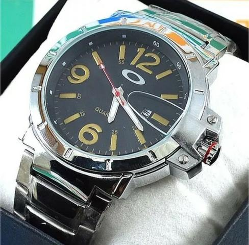 27d33fbb6f3 Relógio Oakley Ironman À Prova D´água Masculino Pulseira Aço ...