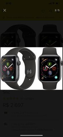 0e236b9464e Apple Watch Series 4 Space Gray 44mm + Pulseira Sport Preta ...