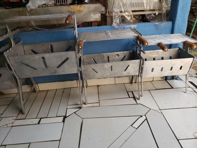 Churrasqueiras em alumínio desmontável