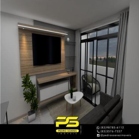 Apartamento com 2 dormitórios à venda, 61 m² por R$ 122.000 - Paratibe - João Pessoa/PB - Foto 6