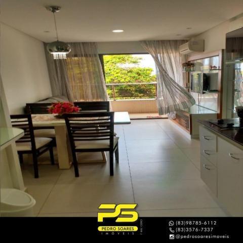 Apartamento com 2 dormitórios para alugar, 60 m² por R$ 3.500,00/mês - Tambaú - João Pesso - Foto 6