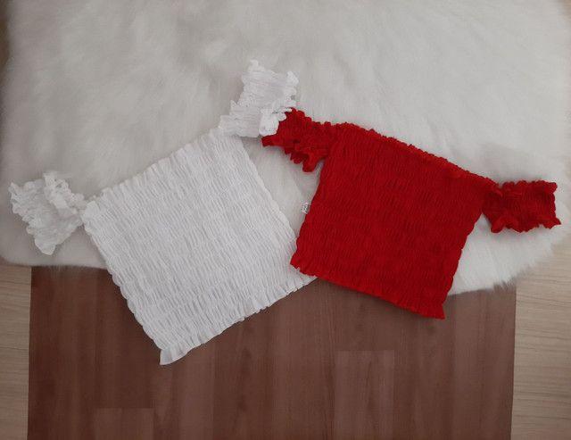 Cropped lastex apenas R$ 35,00. Tamanho único e veste vários tamanhos.  - Foto 4