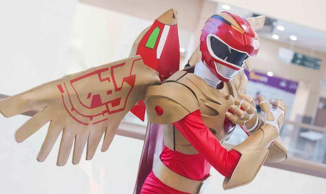 Cosplay Ranger vermelho força animal - Foto 2