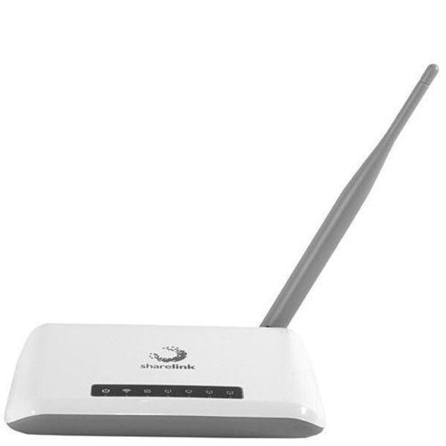 Roteador Wireless Sharelink SL-WR150N 1 Antena 150Mbps em 2.4GHz - Branco<br><br>