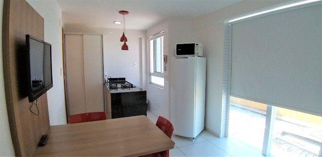 (AP0921) Apartamento beira mar, com 34m², 1 suíte, varanda vista mar - Tambaú - Foto 3