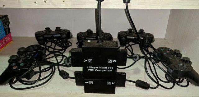 Playstation 2 com HD interno + externo - Foto 2