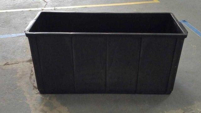 Cesto / Caixa / em Plástico Preto 35 cm x 70 cm x 26 cm - Foto 2