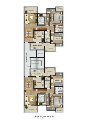 Lindo com 3/4 por R$ 295.000 suíte varandas e elevador em Recanto da Mata - Foto 2