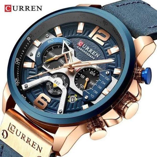 Relógio Curren Azul<br>Luxo - Foto 3