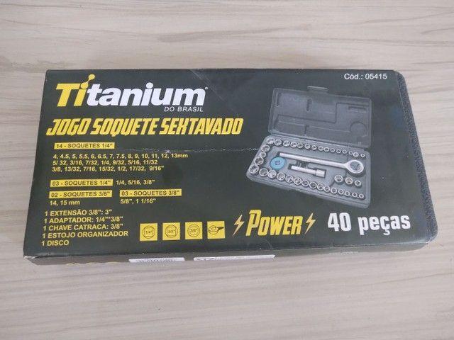 Soquete sextavado Titanium novo. Caixa c/ 40 peças.  - Foto 3