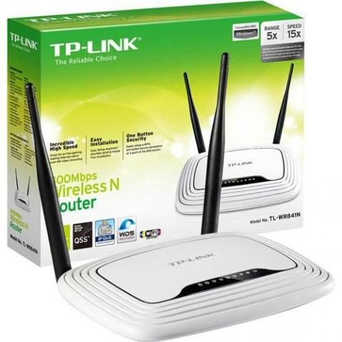 Roteador Wireless Tp-link Tl-wr841n 300mbps -2 Antenas 5 Dbi