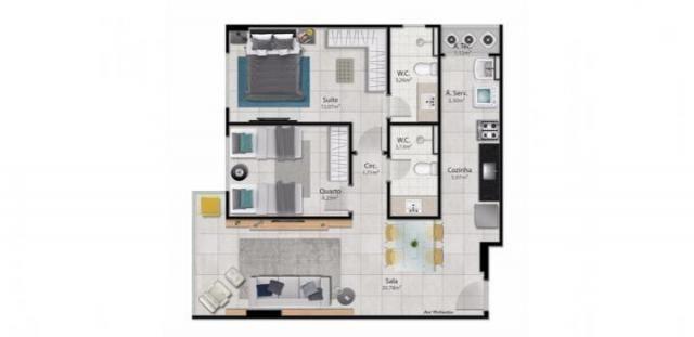 Apartamento para venda em vitória, santa helena, 2 dormitórios, 1 suíte, 2 banheiros, 2 va - Foto 15