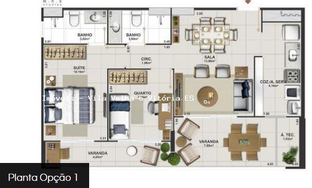 Apartamento para venda em vitória, jardim camburi, 2 dormitórios, 1 suíte, 2 banheiros, 2  - Foto 15