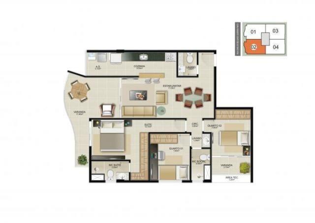 Apartamento para venda em vitória, jardim camburi, 3 dormitórios, 1 suíte, 2 banheiros, 2  - Foto 20