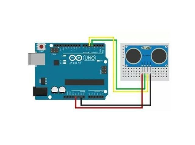 COD-AM11 Sensor Ultrassônico Hc-sr04 Hc Sr04 Arduino Pic Raspberry - Foto 4