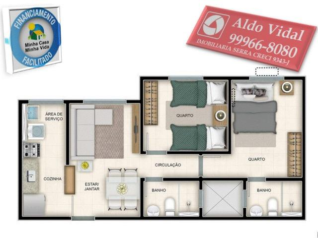 ARV130- Apartamento 2 Q Próximo a Praia Balneário de Carapebus - Foto 17