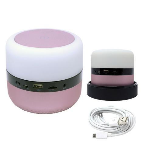 Caixa de Som Bluetooth Led 5w MY-002 Tomate Carregador por Indução Abajur Luminária - Foto 2
