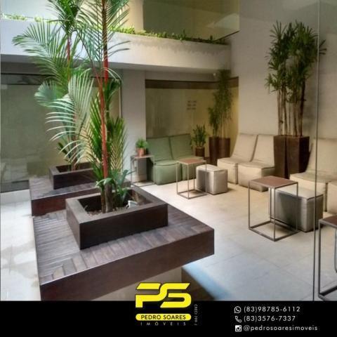 Apartamento com 2 dormitórios para alugar, 60 m² por R$ 3.500,00/mês - Tambaú - João Pesso - Foto 2