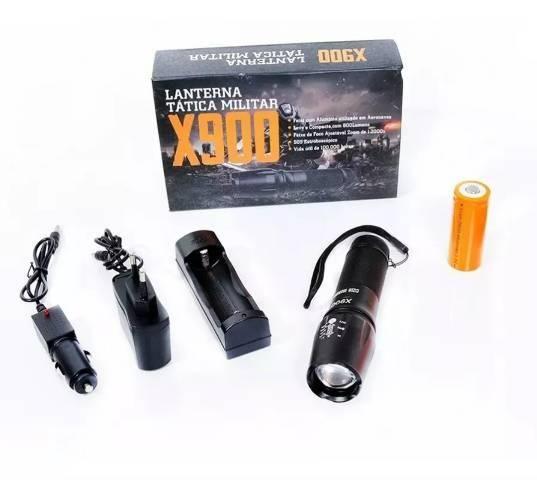 Lanterna x900 recarregável tática militar - Foto 4