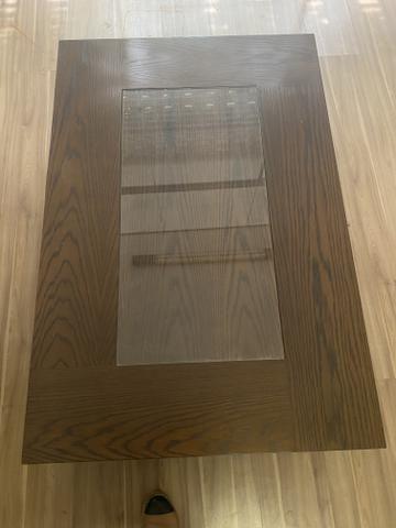 Mesa de centro cor tabaco com vidro - Foto 3