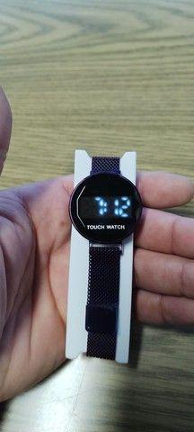 Relógio digital feminino touch watch