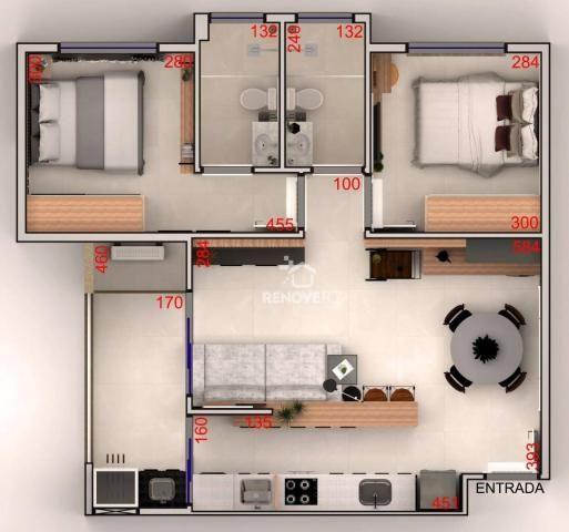 Apartamento com 2 dormitórios à venda, 64 m² - Centro - Foz do Iguaçu/PR - Foto 19