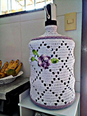 Capa para garrafão de água 20L em crochê novo