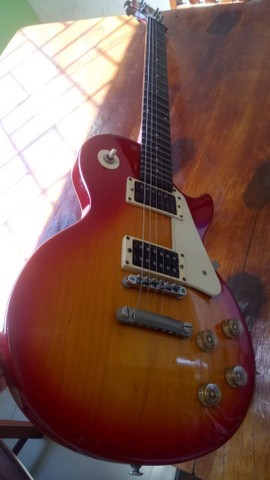 Guitarra Epiphone Lês Paul LP 100 Heritage Cherryburst Hs - Foto 5