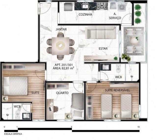 Apartamento de 03 quartos no Bairro dos Estados. 318-9689 - Foto 7
