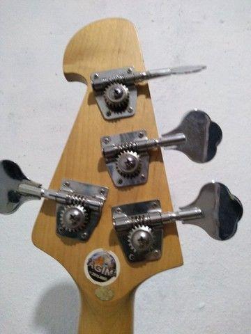 Baixo Tagima TBM 4 ativo modelo music Man troco por violão + volta do interessado - Foto 5