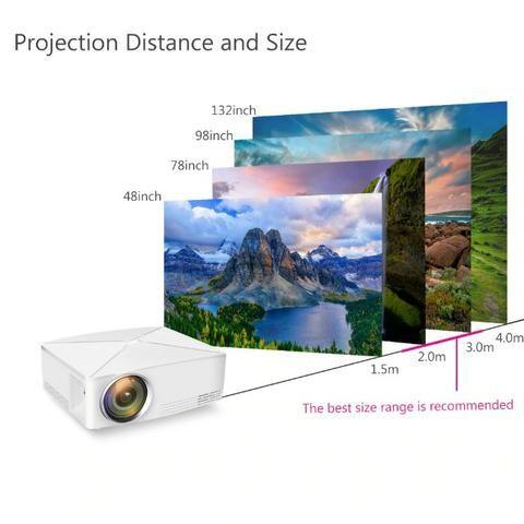 Projetor HD 2200 lumens NOVO