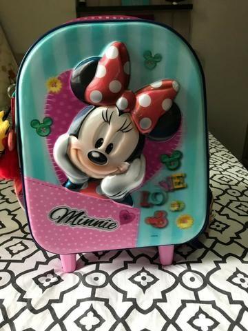 Mochila Minnie Mouse 3d com Rodinhas