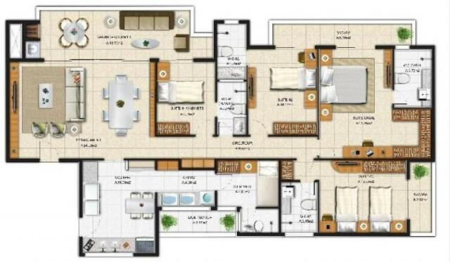 Apartamento à venda, 5 quartos, 3 vagas, benfica - fortaleza/ce - Foto 3